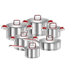 High Quality 12pcs Stainless Steel Capsule Bottom Casserole