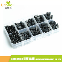 Black Insulated 300pcs M3 Nylon Screws Nuts M-F Hex Spacers Assortment Kit Stand-off Set