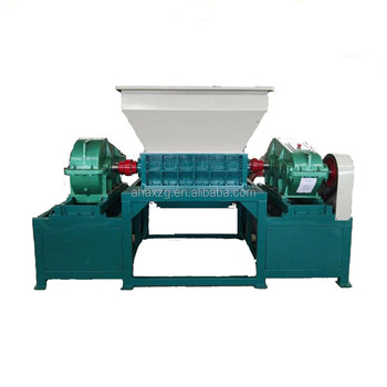 Double shaft tire shredder waste scrap metal shredder machine