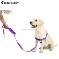 2016 Best Seller 100% Pure Nylon pets and dogs easy walk running dog harness collar leash