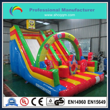 mini indoor inflatable slide for kid,spongebob inflatable water slide