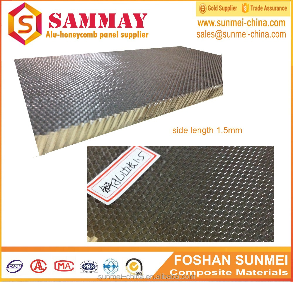 fireproof osb eps sandwich wall panel in light weight aluminum honeycomb