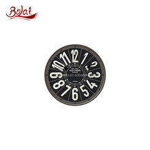 Unique black dial design old town clocks country style wall clock