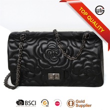 with 10 years manufacturer experience factory new fashion cow leather female casual bags floral embossed handbags