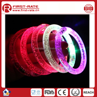2015 Colorful Round Bar flashing led bracelet for Party& Fan