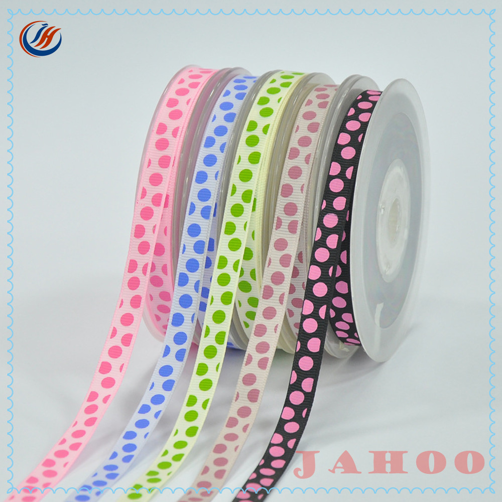 Custom Colorful Festival Polyester Satin Printed Ribbon For Celebrate Chirstmas