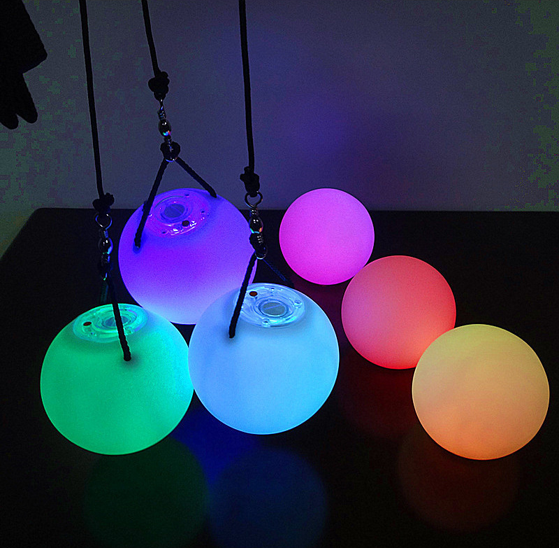 2017 Hot Sell Soft Led Poi Ball Flashing Led Poi Ball rgb led ball Soft