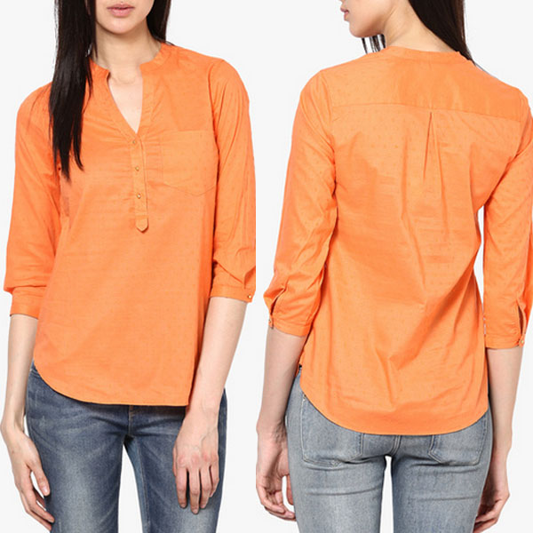 Women casual cotton blouse designs cutting for ladies blouse