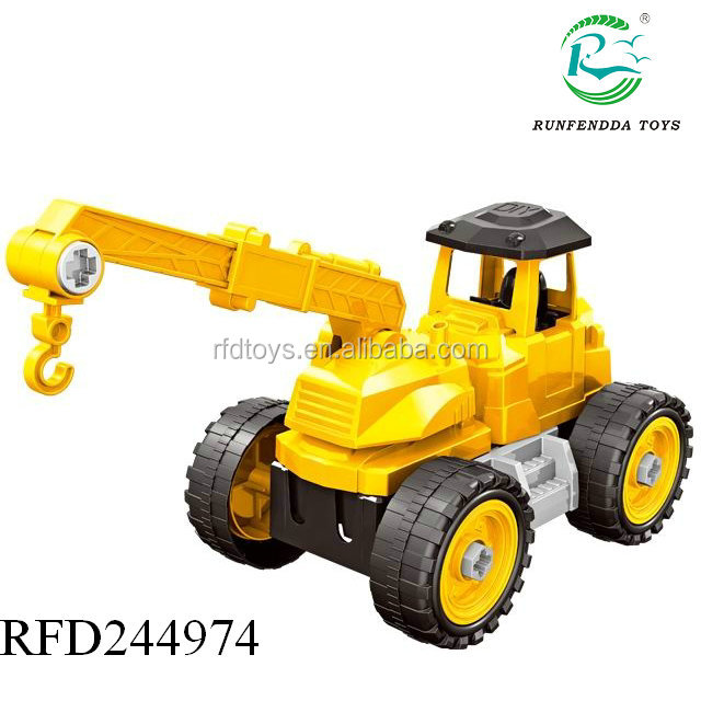 New product kid play educational plastic diy truck toy