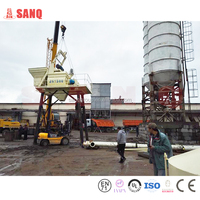 The plant for production of concrete from China 75m3/h HZS75 SANQGROUP