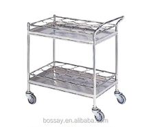 Hospital Trolley with Thermos Bottle Holders/Water Bottle Trolley