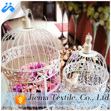 JM hotsale high quality white metal wire decorative bird cage