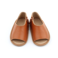 New fashion Brown Baby Shoes Genuine Cow Leather Soft sole toddler shoes
