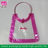 high quality branded retail custom printed pvc wine bag with ice cube