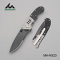 Stainless steel G10 handle camping folding knife