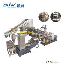 Recycled PP/PE thin film double stage granules extruder line