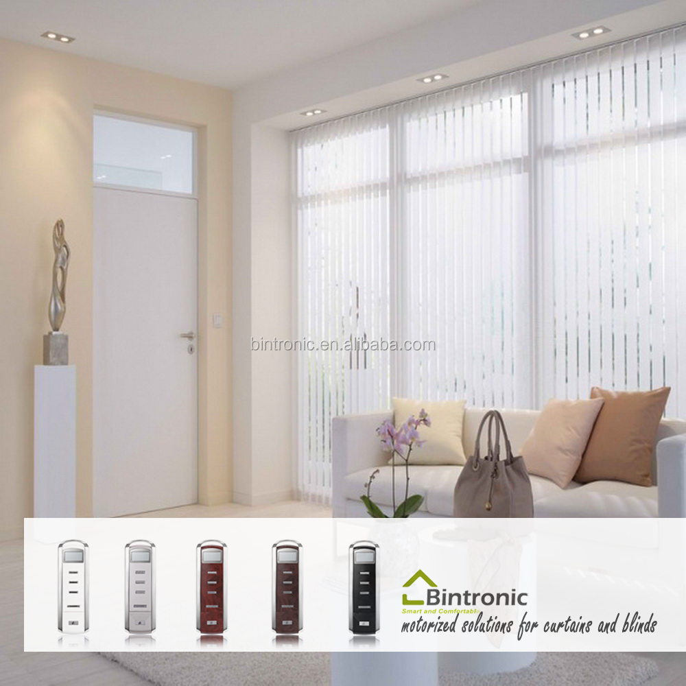 Bintronic Taiwan Window Blind Rail System Motorized Vertical Blinds With Blind Engine Motor