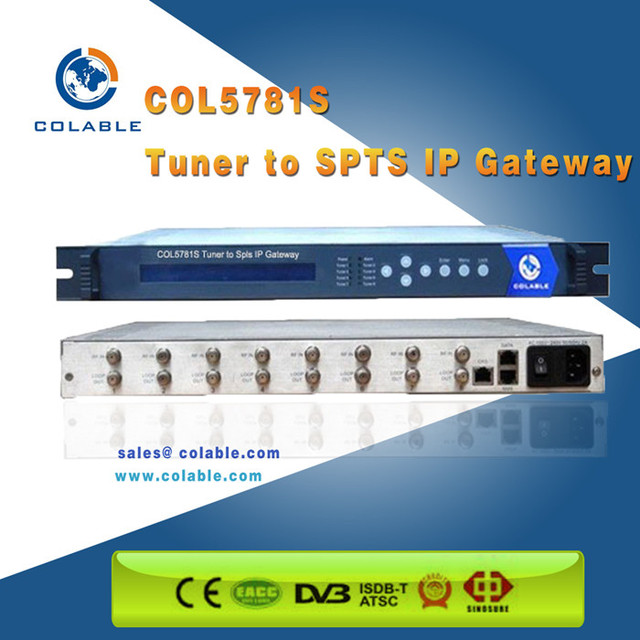 IPTV solution DVB-S/S2/C/ISDB-T/Tb DVB TO IP Gateway for 32 SPTS over IP out
