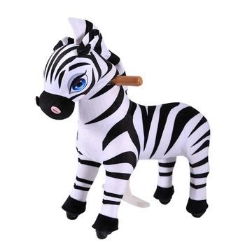Man Power Pony Ride On Walking Toy Zebra