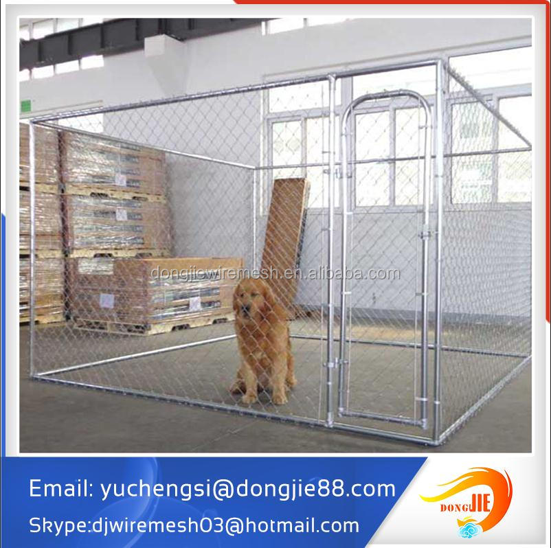 Galvanized Dog Run Cages with Awning Cloth, Professional Manufacturer
