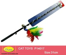 Retractable Cat Toys Interactive Feather Teaser Wand Toy