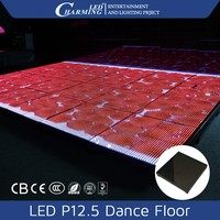 Manufacture disco/wedding party led P12.5 video dance floor for sale/for rental