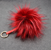 Manufacturers price large imitation raccoon hairy key ring 15cm fur lady lovely bag car pendant
