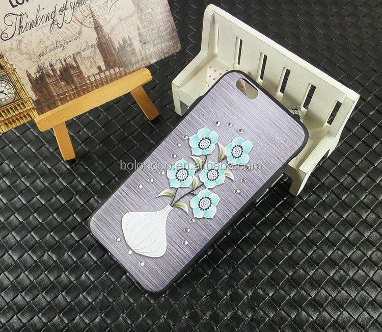 Fashionable light and handy leather case with 3D pictrues back cover for iphone7 7 plus for compatible brand mobile wholesale