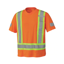 Green reflective on chest t shirts <strong>safety</strong> with reflective tape