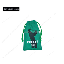 2016 cheap custom non woven drawstring bag/pouches with logo
