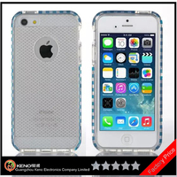 Keno Multiple Colors Choice Transparent PC+TPU Gel Cover Case for iPhone 5, Phone Case Protective Cover for Apple iPhone 5