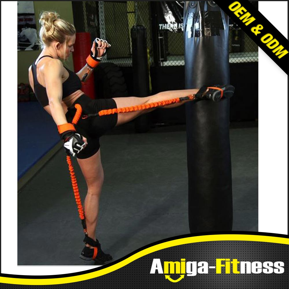 Flexible Resistance Band Fitness Trainer Rope Running Jump Leg Strength Agility Training Strap
