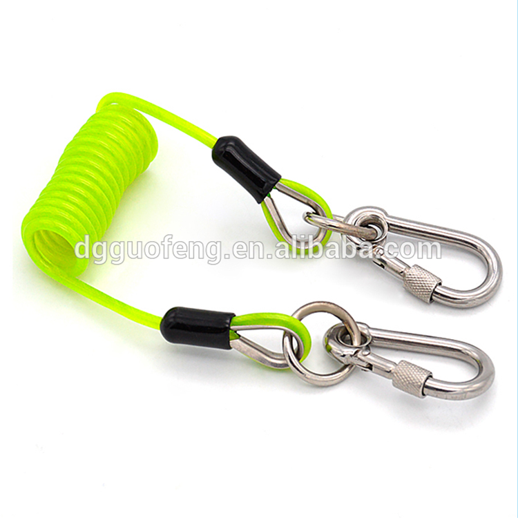 Supreme security coil tool lanyard spring rope with hook
