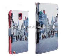 Wholesale PU leather case for Samsung Note 3,keyboard case for samsung galaxy note 3