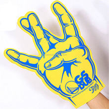 EVA cheering foam hands custom EVA Foam Fingers Big Team Sport Fans Hands