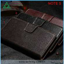 Genuine Leather Flip Stand Wallet Case Cover For Samsung Galaxy Note 5