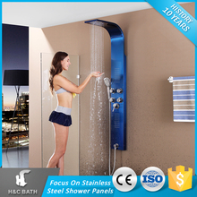 OEM Production Led Lights Shower Panel Parts With Head Shower