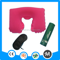 Top selling quality guaranteed pvc flocking inflatable pillow set
