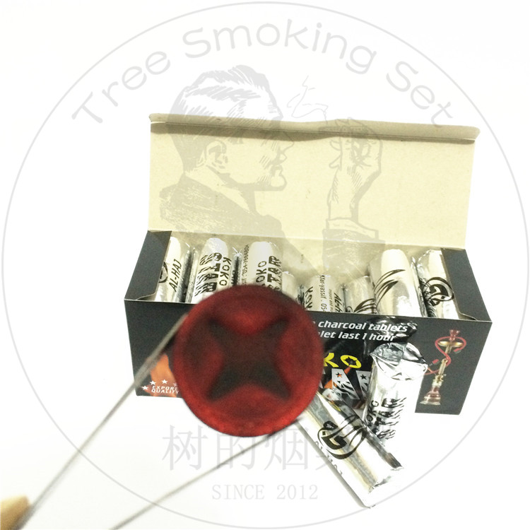 TTAN0110 kokostar charcoal bamboo star tablets 35mm shisha charcoal for hookah chicha incense