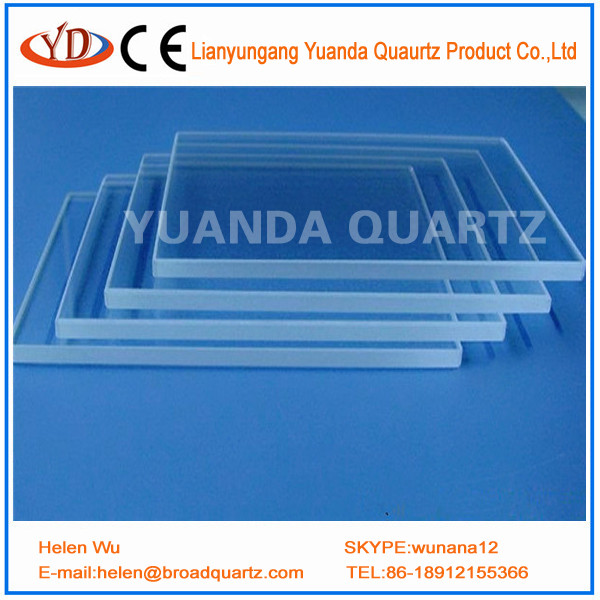 china supplier heat resistant transparent UV quartz glass plate