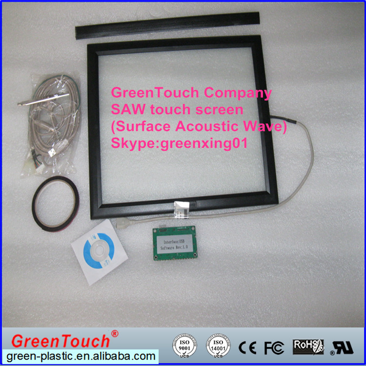 "Surface Acoustic Wave / SAW touch screen 17"" with waterproof glass 4:3 ratio"
