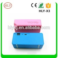 X3 500MAh battery wireless portable bluetooth mini speaker,support USB/TF/radio