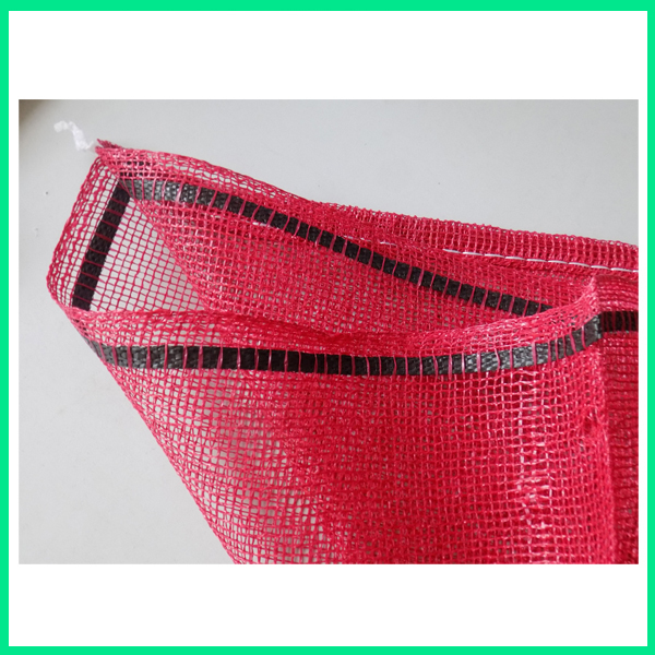 red pp leno mesh bag for onions