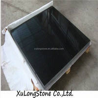 Chinese black galaxy granite, absolute black granite tiles