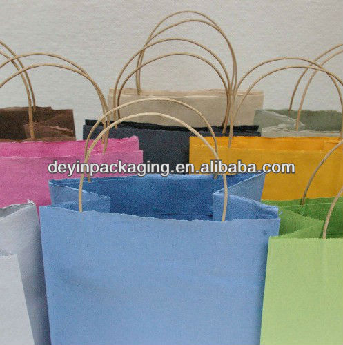 various color kraft paper handbag