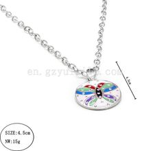 2014 wholesale cheap hidden camera necklace stainless steel jewelry necklace