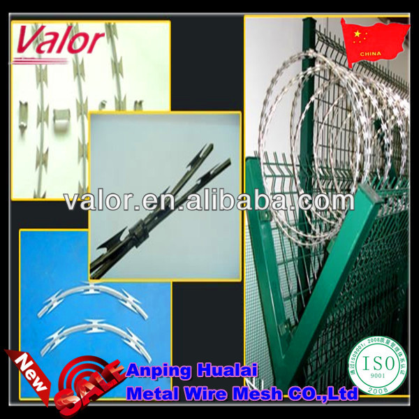 2.5mmx2.5mm razor wire installation continuous or reverse twist