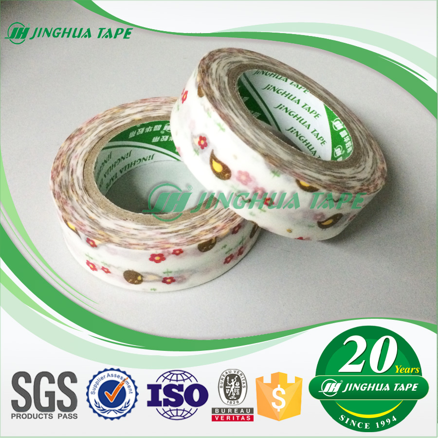 (Rice Paper Masking Tape) Sticky Hand-Tearable OEM Cartoon Adhesive Tape Made In China