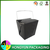 Bulk sale biodegradable noodle boxes, black noodle box