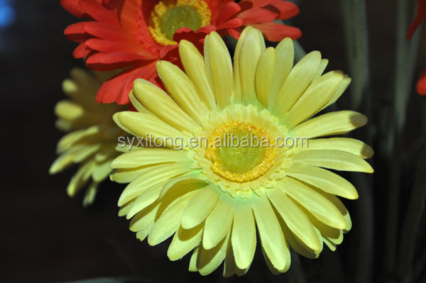 Hot sale top quality real touch silk orange gerbera daisy flower